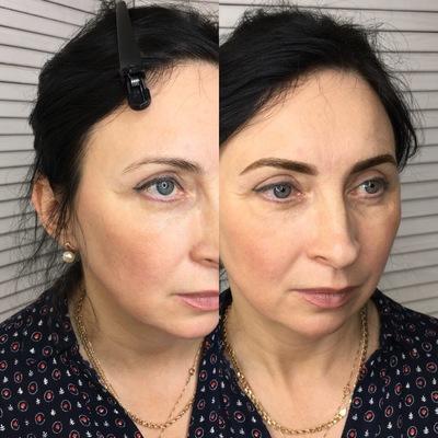 Работы мастеров перманентного макияжа, микроблейдинга, пудовые брови