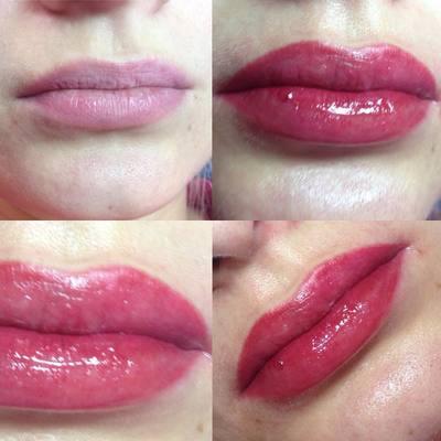 Перманентный макияж губ, микроблейдинг губ, татуаж Санкт-Петербург