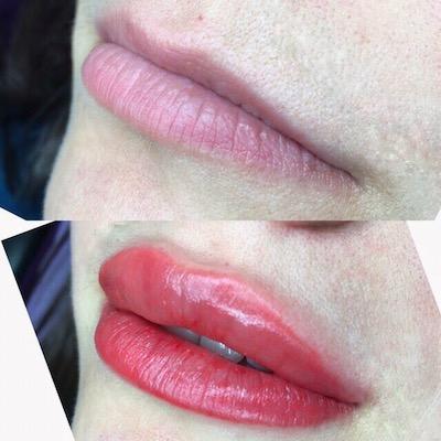 Работы учеников акварельные губы и межресничка